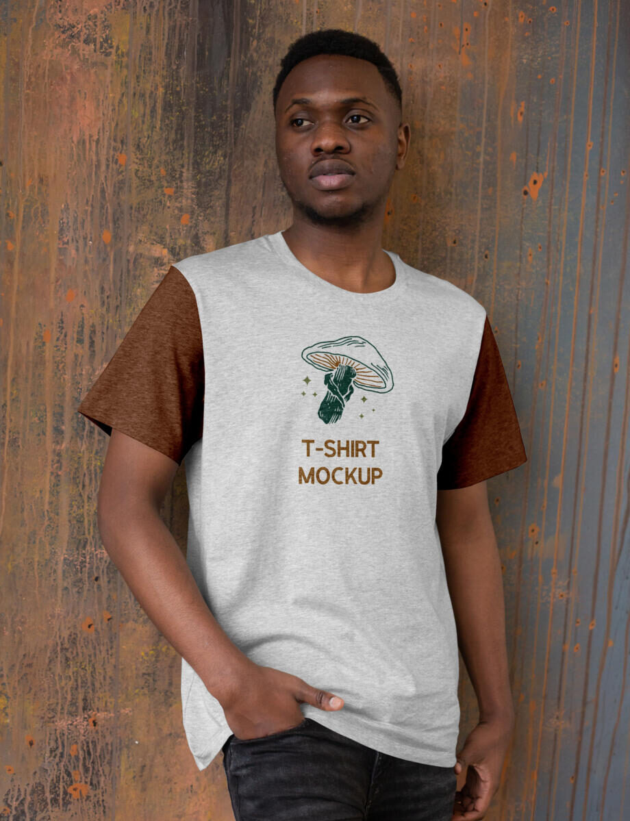 Free Front T-Shirt Mockup PSD Template