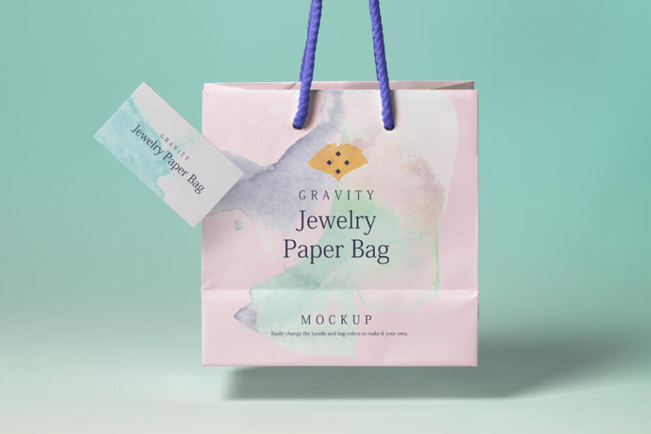 Free Gravity Shopping Bag Mockup PSD Template