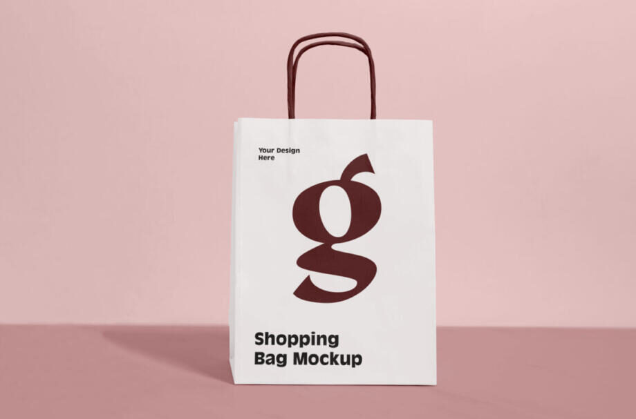 Free Grocery Shopping Bag Mockup PSD Template