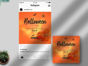 Free Halloween Instagram Post PSD Template