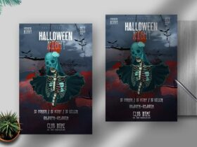 Free Halloween Night PSD Flyer Template