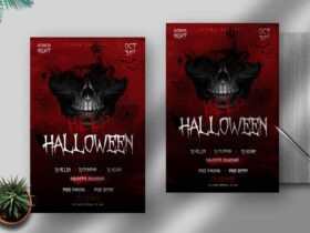 Free Halloween Nightmare PSD Flyer Template