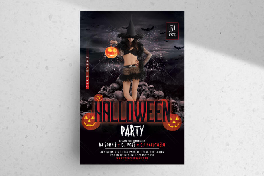Free Halloween Party PSD Flyer Template
