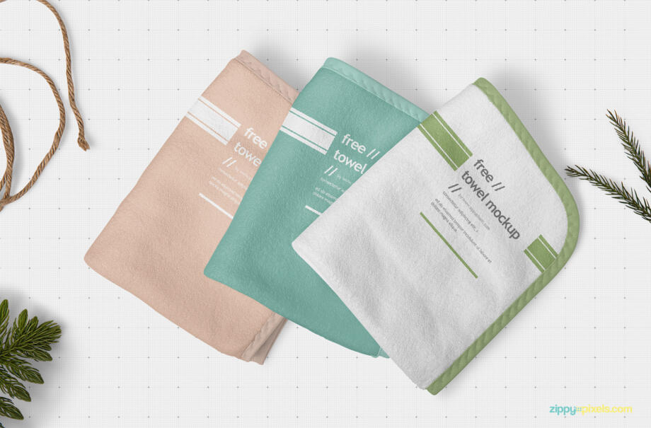 Free Hand Towel Mockup PSD Template