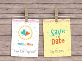 Free Hanging Cards Mockup PSD Template