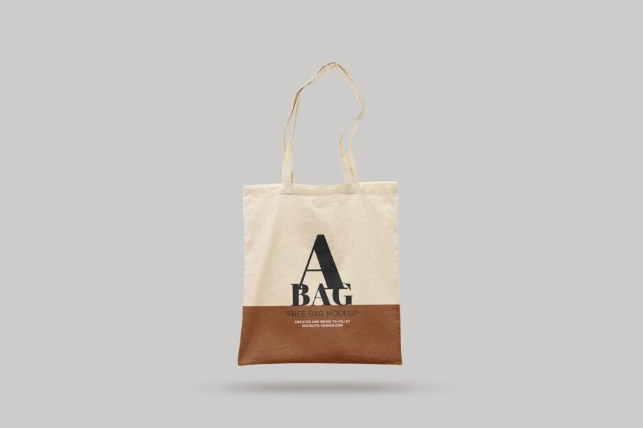 Free Hanging Tote Bag Mockup PSD Template