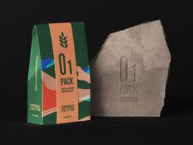 Free Herbal Bag Packaging Mockup PSD Template