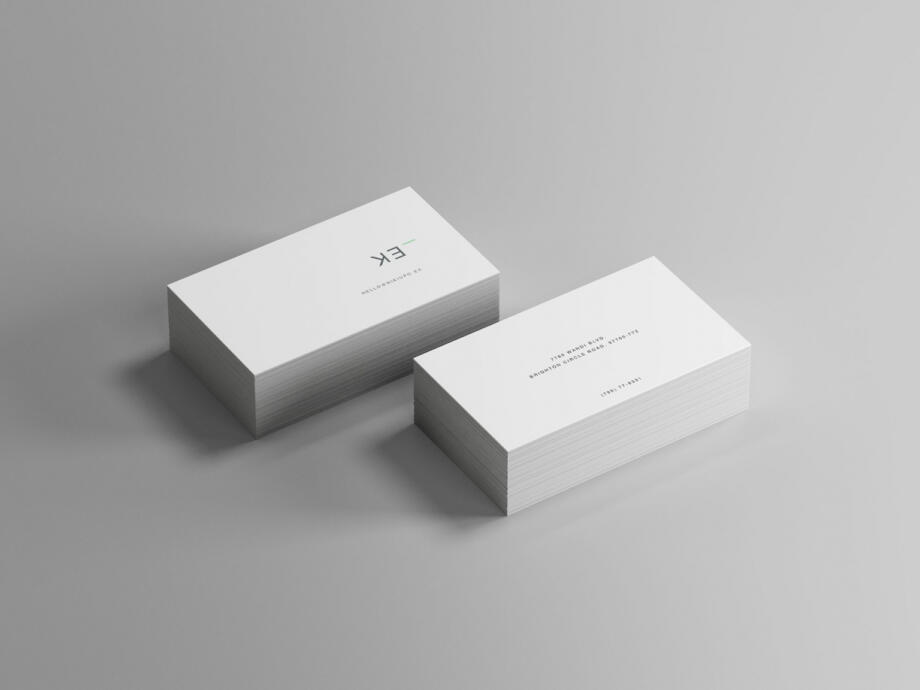Free Isometric Business Card Mockup PSD Template