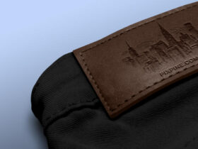 Free Jeans Leather Label Mockup PSD Template