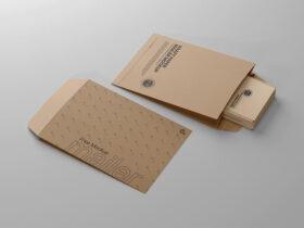 Free Kraft Paper Mailer Mockup PSD Template