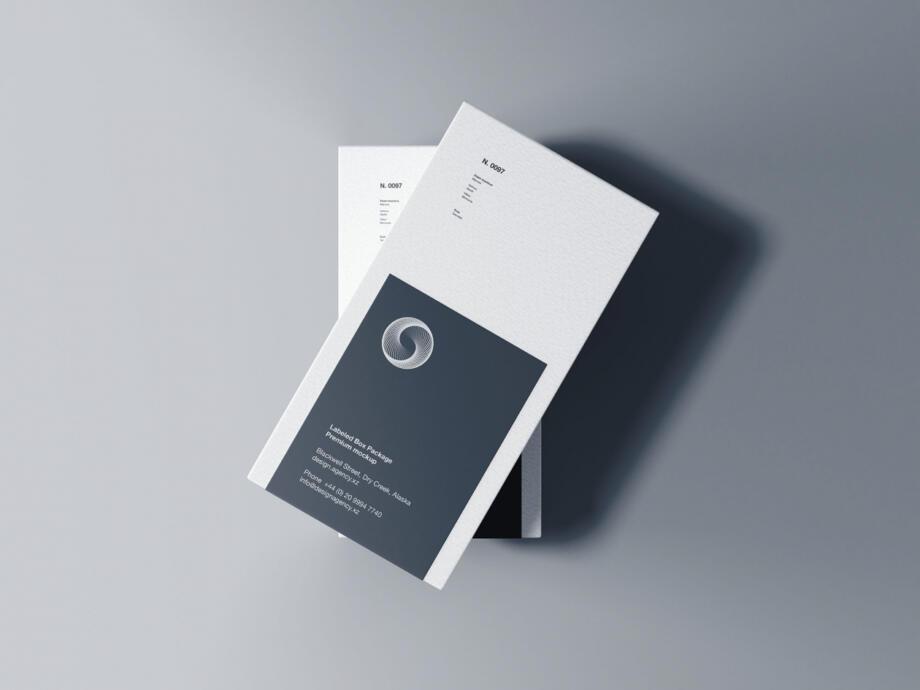 Free Labeled Box Mockup PSD Template