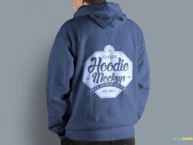 Free Men's Hoodie Mockup PSD Template