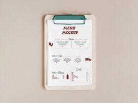 Free Menu Card Mockup PSD Template
