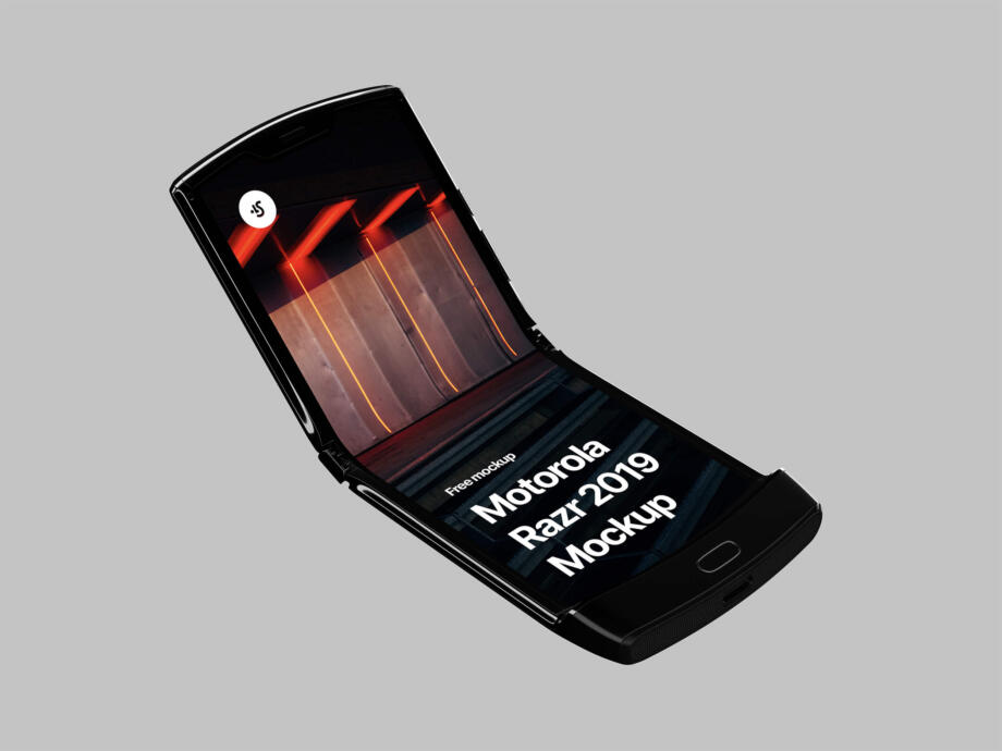Free Motorola Razr 2019 Mockup PSD Template