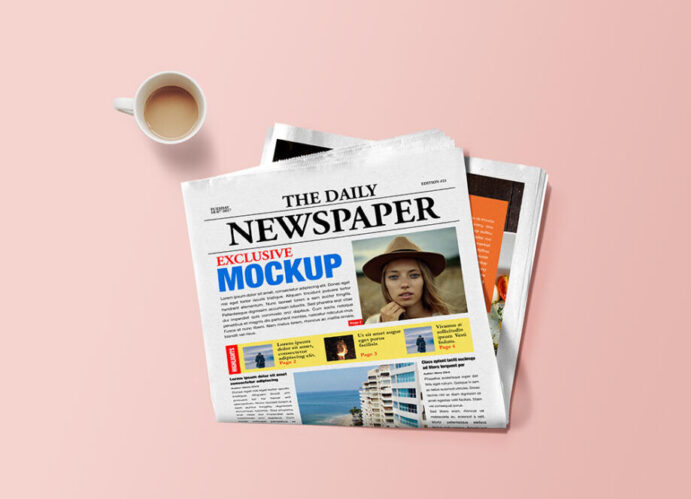 Free Newspaper Mockup PSD Template
