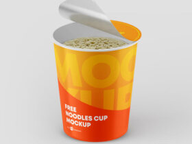 Free Noodles Cup Mockup PSD Template