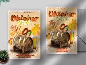 Free Oktober Fest Flyer PSD Template