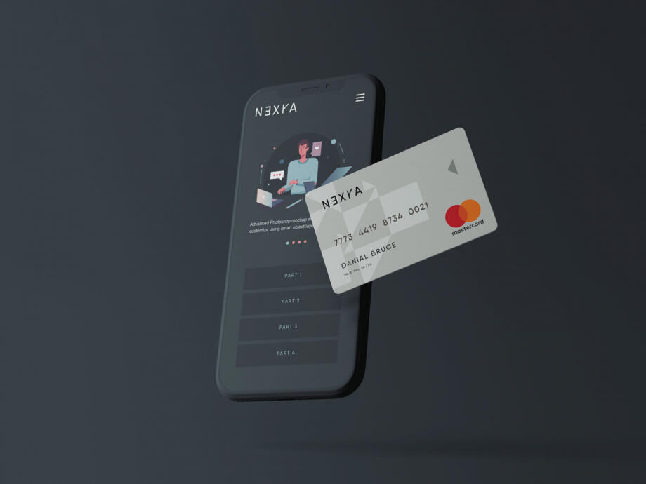 Free Online Payment Mockup PSD Template