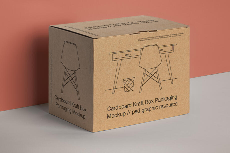 Free Packaging Product Box Mockup PSD Template