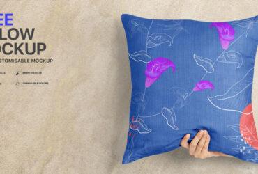 Free Pillow Mockup PSD Template