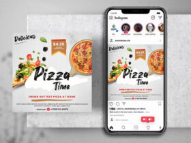 Free Pizza Delivery Instagram PSD Banner