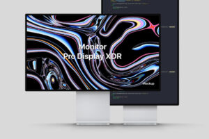 Free Pro Display XDR Mockup PSD Template