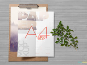 Free Realistic Paper Mockup PSD Template