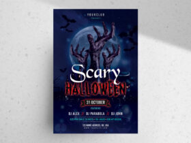 Free Scary Halloween PSD Flyer Template