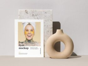 Free Single Letter Flyer Mockup PSD Template