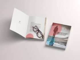 Free Softcover Book Mockup PSD Template