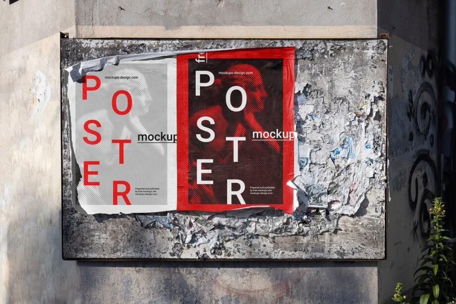 Free Street Poster Mockup PSD Template