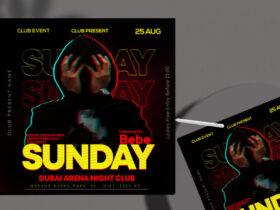 Free Sunday Event Night Instagram Banner PSD