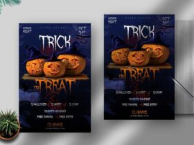 Free Trick or Treat Halloween PSD Flyer Template