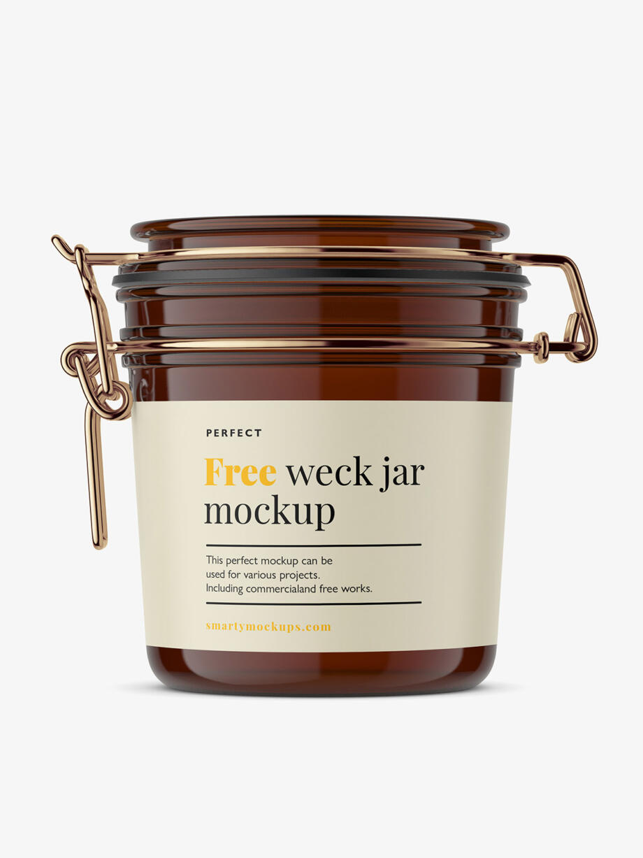 Free Weck Jar Mockup PSD Template