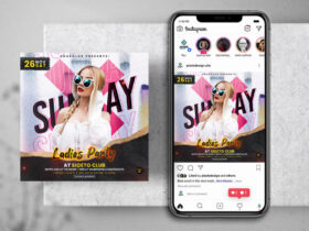 Free Weekend Party Instagram PSD Banner
