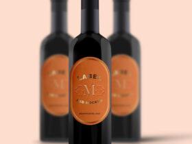 Free Wine Bottle Mockup PSD Template