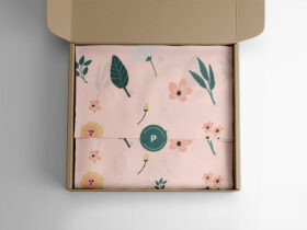Free Wrapping Tissue Paper Mockup PSD Template
