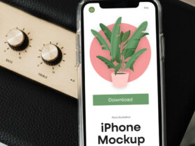 Free iPhone XS Mockup PSD Template