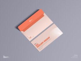 Free 9×4 Envelope Mockup PSD Template