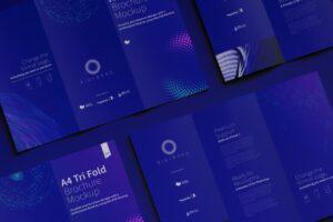 Free A4 Trifold Brochure Mockup PSD Template