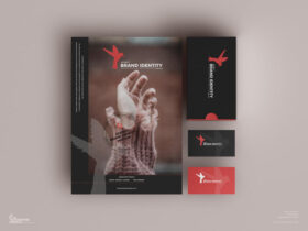 Free Agency Brand Identity Mockup PSD Template