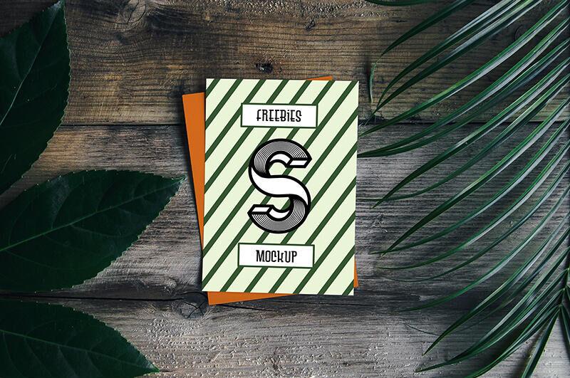 Free Blank Card Mockup PSD Template