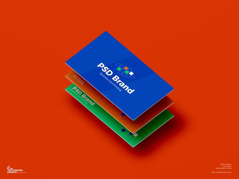 Free Brand Business Card Mockup PSD Template