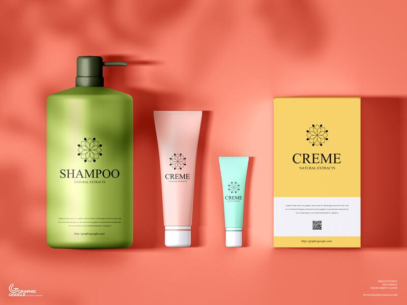 Free Branding Cosmetics Mockup PSD Template