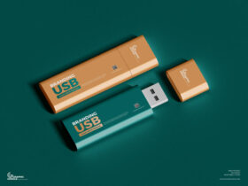 Free Branding USB Flash Drive Mockup PSD