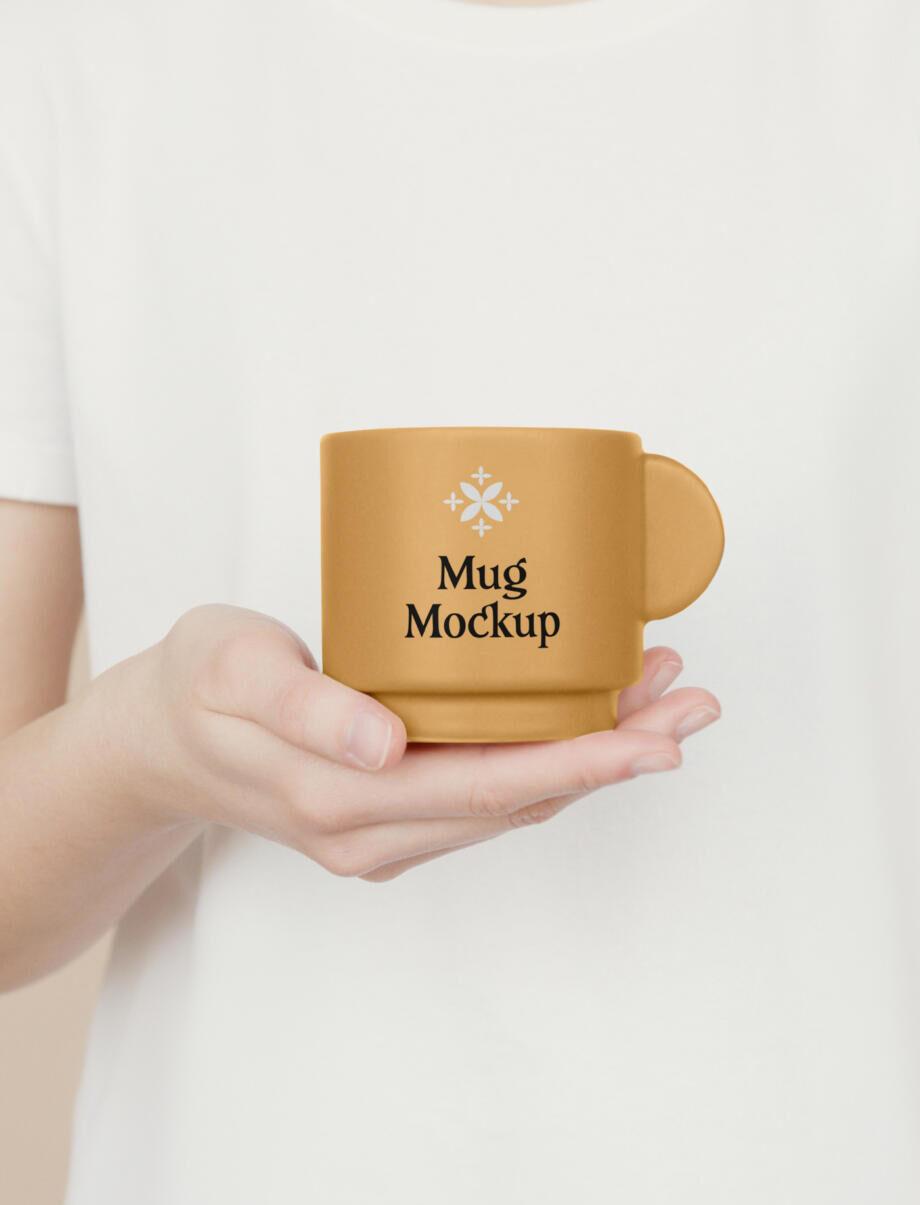 Free Ceramic Mug PSD Mockup Template