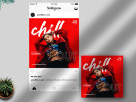 Free Chill Out Instagram Post PSD Template