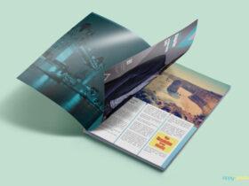 Free Customizable Magazine Ad PSD Mockup