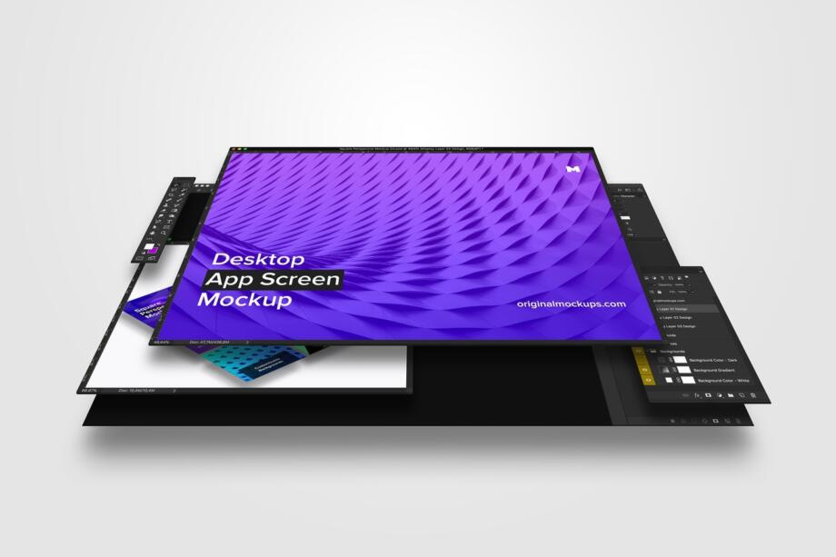 Free Desktop App Screen Mockup PSD Template
