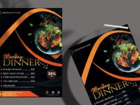 Free Dinner Menu PSD Flyer Template